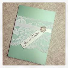mint wedding invitations sample mint green vintage lace wedding door stunningstationery