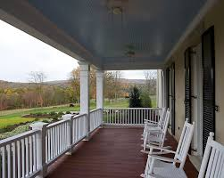Beadboard Porch Ceiling by Porch Railing Ideas Porch Traditional With Beadboard Ceiling Black