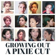 growing out short hair but need a cute style month by month timeline of all the stages of growing out a pixie