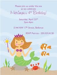 printable mermaid birthday invitations template