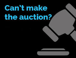 bid auction absentee bidding state auctions