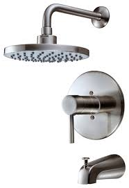 hardware house 13 5627 satin nickel tub shower combo faucet