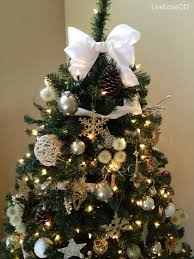 tree decorations with bows tree