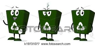 art of recycle clip art of recycle bin k19731077 search clipart illustration