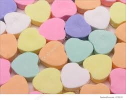 heart shaped candy photo of heart candy
