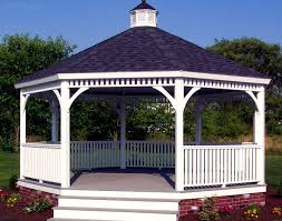 Pergola Plastic Roof by Vinyl Single Roof Octagon Gazebos Gazebos By Style