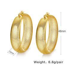 gold jhumka hoop earrings meaeguet classic gold color hollow big earrings hoop earrings