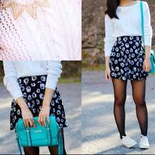 60 off h u0026m dresses u0026 skirts black u0026 white daisy skirt from