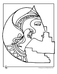 ancient egypt coloring page ancient egypt coloring pages art deco nefertiti coloring page
