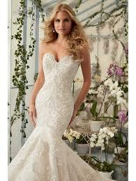 fishtail wedding dresses mori 2801 beautiful lace fish wedding gown ivory