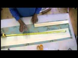 How To Use Buckram In Curtains How To Make Goblet Curtains Or Valances Part 1 Youtube