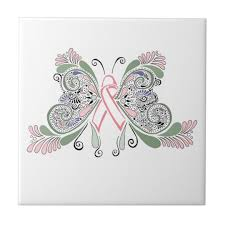 breast cancer butterfly design tile zazzle com