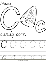 candy corn letter