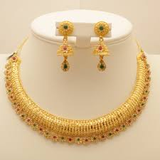 gold round necklace images 22 carat indian gold round necklace set 65 6 grams gold forever jpg