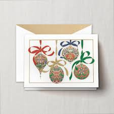 engraved ornaments greeting card boxed cards