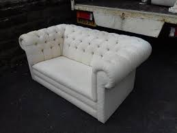 2 seater shabby chic vintage fabric wwite chesterfield sofa free