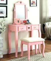 Girls Vanity Table And Stool Vanities Full Image For Build A Vanity Pink Delani Transitional