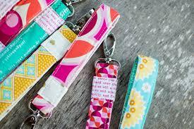 show off saturday wrist strap keychains free sewing tutorial
