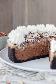 no bake german chocolate cheesecake beyond frosting