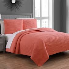 buy coral quilt bedding from bed bath u0026 beyond