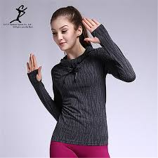 Hoodie With Thumb Holes Womens 2017 Women Long Sleeve Running Tops Fitness Hoodies Sports T