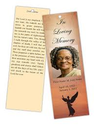 program for funeral service funeral program templates memorial bookmark template beloved angel