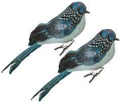 martha stewart living glass bird mini ornament set of 6