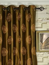 halo embroidered chinese inspired grommet dupioni silk curtains