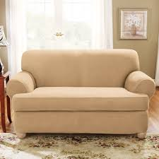 Sofa Covers Kohls Fit Stretch Suede T Cushion Sofa Slipcover
