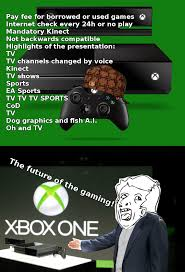 Xbox One Meme - xbox one the gaming of the future ladies and gentlemen xbox