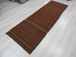 Striped Runner Rug Alluring Striped Runner Rug Orange Yellow Striped Vintage Brown