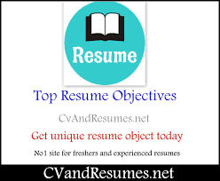 Resume Example Objectives Career by Fresher Resume Objective Examples Free Resume Example And