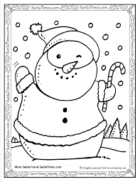 snowman printable coloring page
