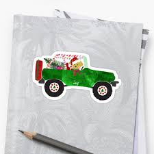 jeep christmas shirt preppy dog christmas jeep retriever puppy stickers by emrdesigns