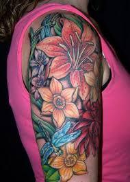 photo collection hawaiian arm tattoos flower