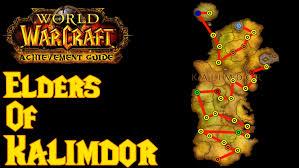kalimdor map achievement guide elders of kalimdor