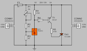 surge protection circuit thyristor tic126 electronics projects