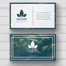 nature business card template psd file free download