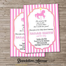 carousel baby shower pink carousel silhouette baby shower invitation dandelion