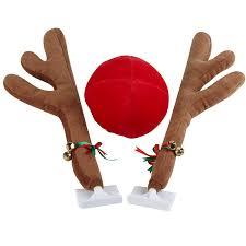 reindeer ears for car mystic industries original reindeer vehicle costume with jingle