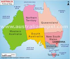 map of australia political map of australia with oceans major tourist attractions maps