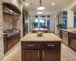 mediterranean kitchen with stone oven also ceramic floor 5431