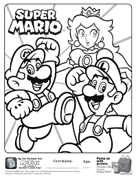 printable mario coloring pages here is the happy meal super mario coloring page click the