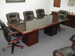 Large White Meeting Table A Large Table And Chairs In A Modern Conference Room Stock Photo