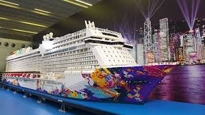 cruise ship the world video the world s largest lego ship has been made using more than