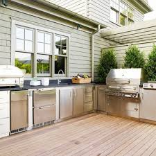 outdoor kitchen cabinets kits stainless steel and wooden outdoor