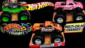 grave digger monster truck videos youtube wheels color shifters cars trucks monster jam mattel how to