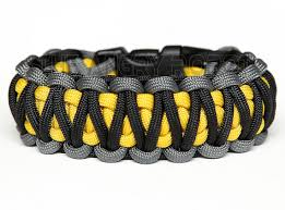 cobra bracelet images Paracord bracelet king cobra grey black with yellow core jpg
