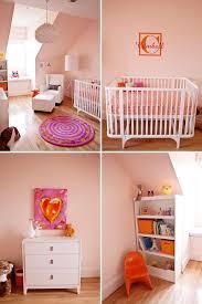 Pink And Orange Bedroom Pink And Orange Modern Nursery The Little Umbrella