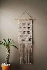 cotton wall hanging bohemian woven tapestry fringe weaving